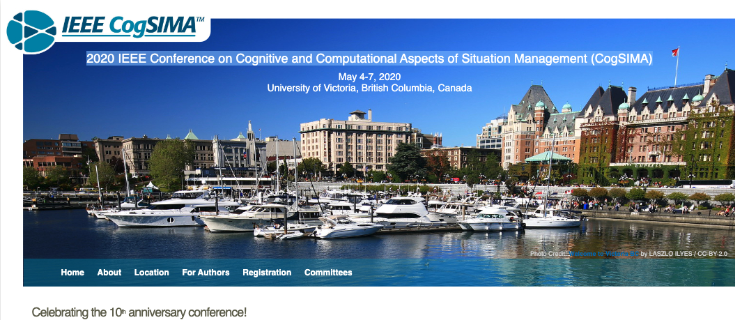 Check out the updated CogSIMA 2020 Conference Website